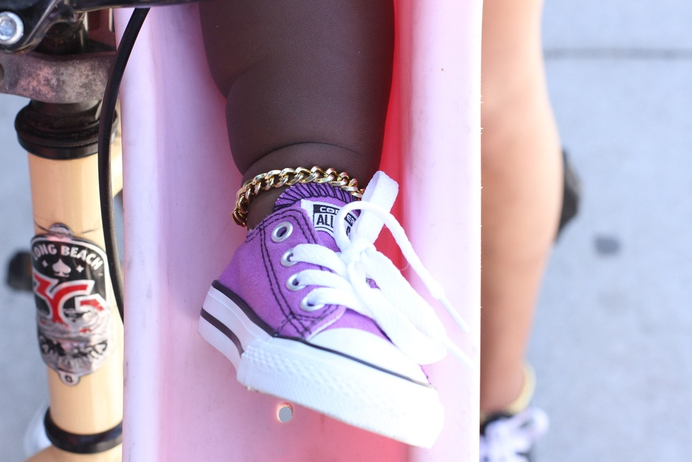 'Goldie Links'baby anklet -