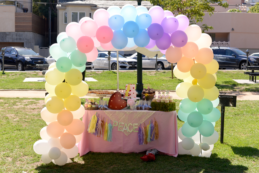 Peace's Rainbow Balloon Arch - Floral Visions