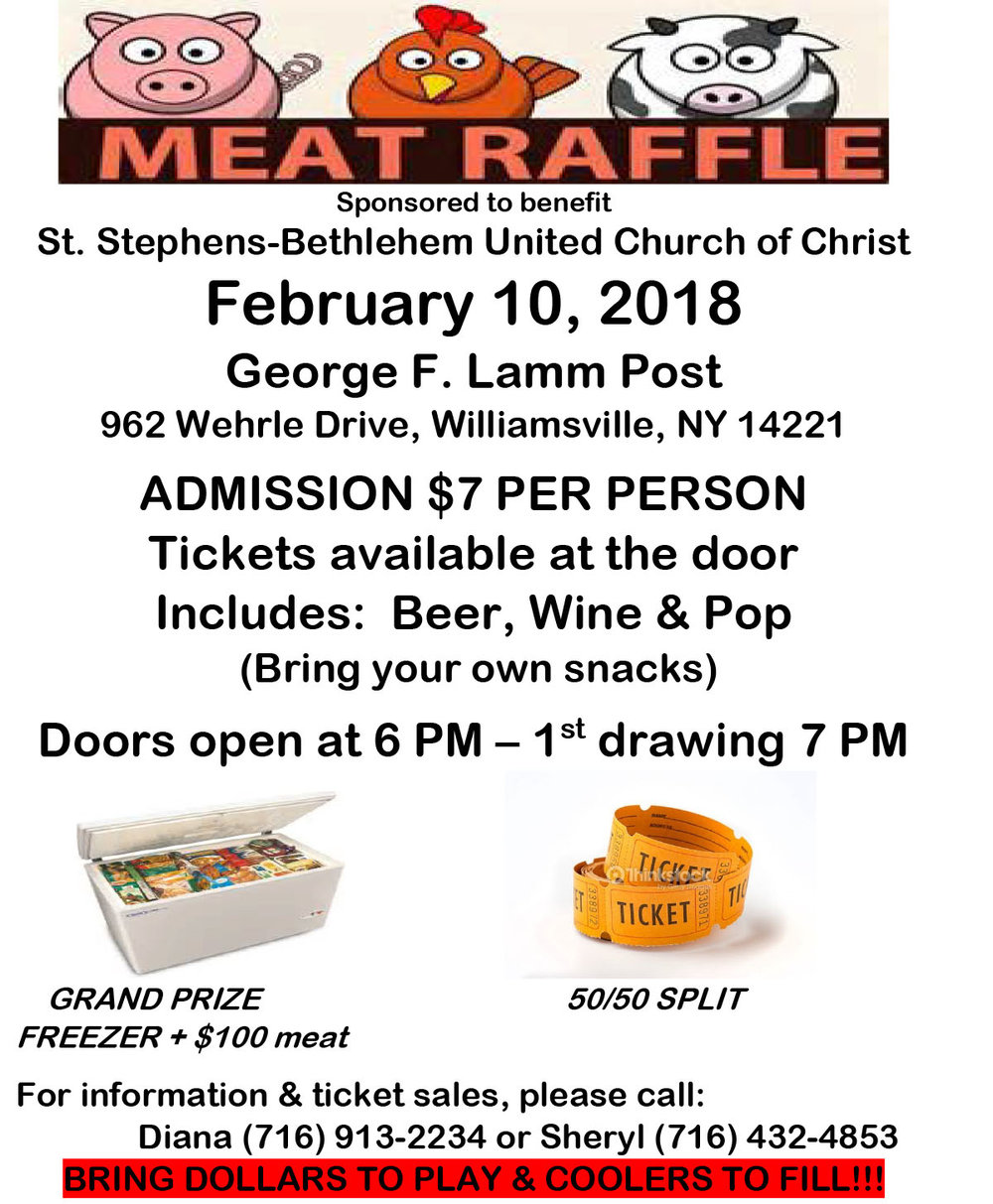 Meat raffle poster templates