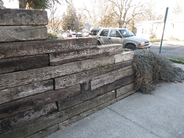Building A Retaining Wall Out Of Railroad Ties