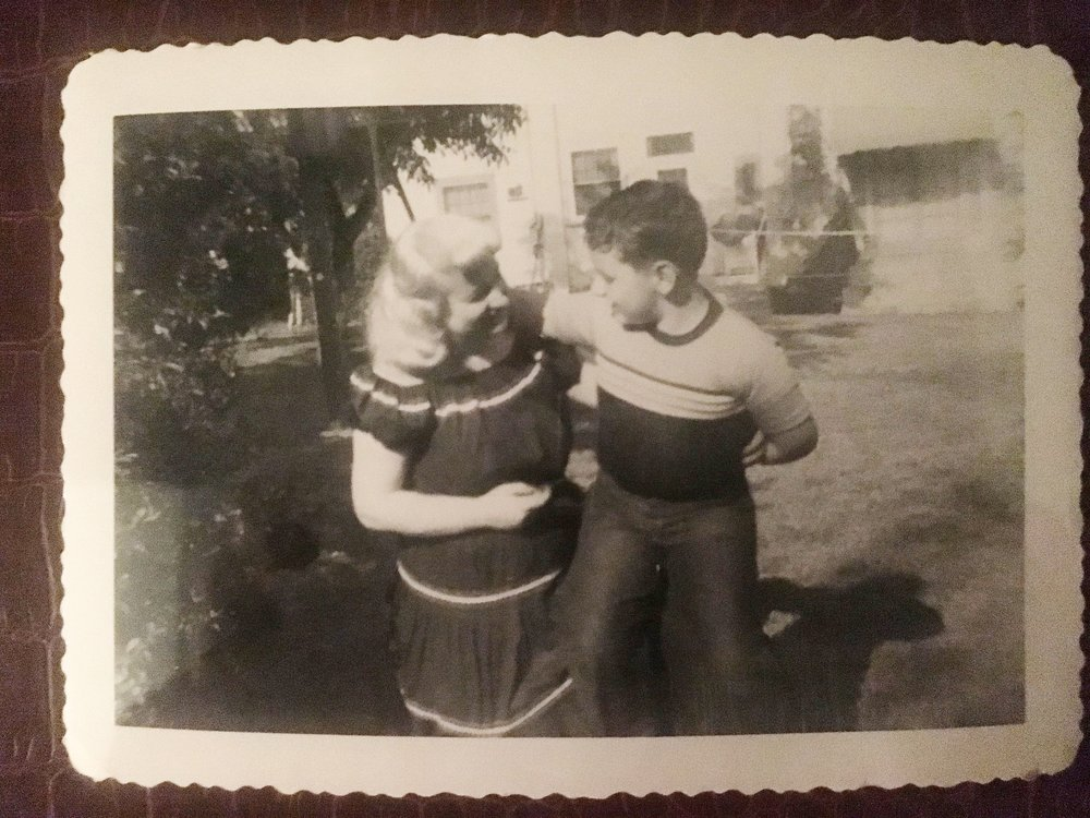 My grandmother and her son Johnny (my Dad)