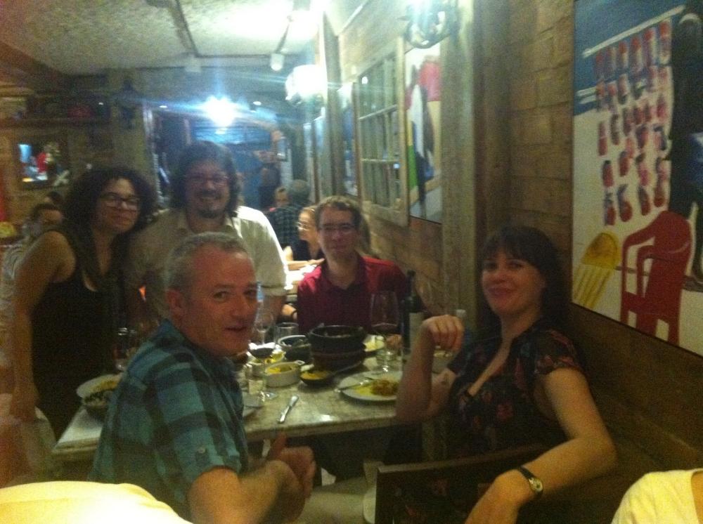 Padraig, Meghie, Eric, Eric and me