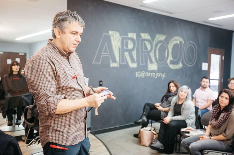 Nick Arrojo addressing students