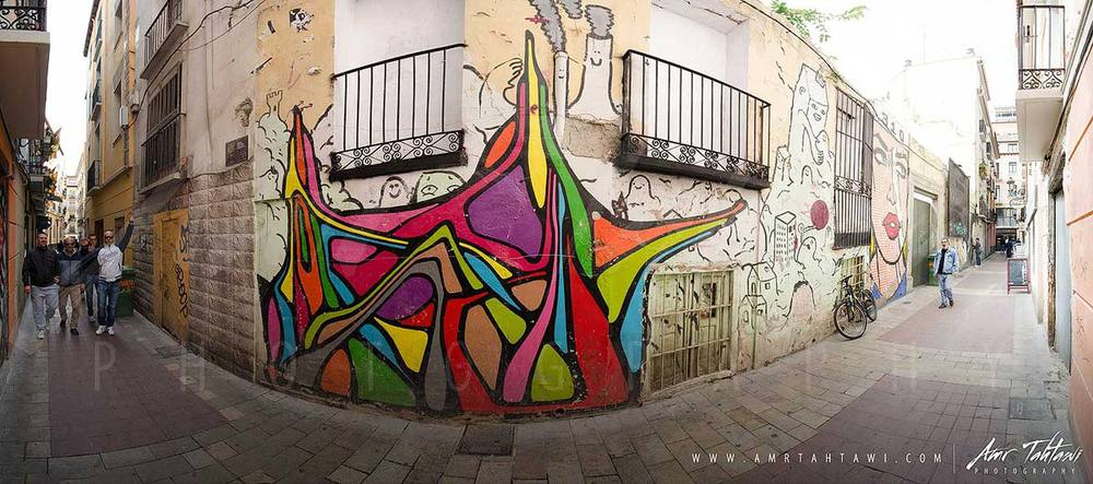 Zaragoza's narrow alleys are a street art paradise ( click for a full screen experience )