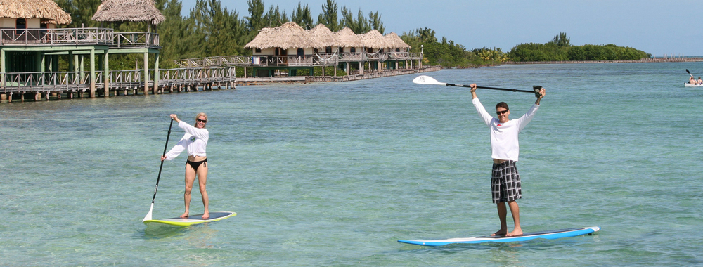 Paddle Boarding at Thatch Caye