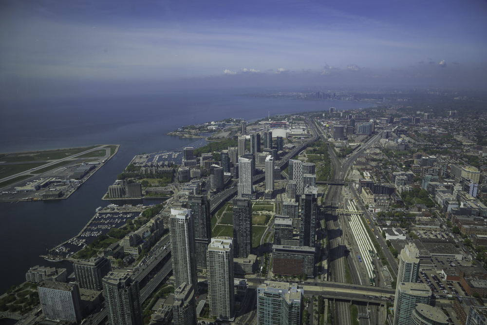 View of downtown Toronto from the CN Tower.