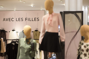 The Avec Les Filles shop-in-shop at Macy's Herald Square.  SASHA LYTVYN