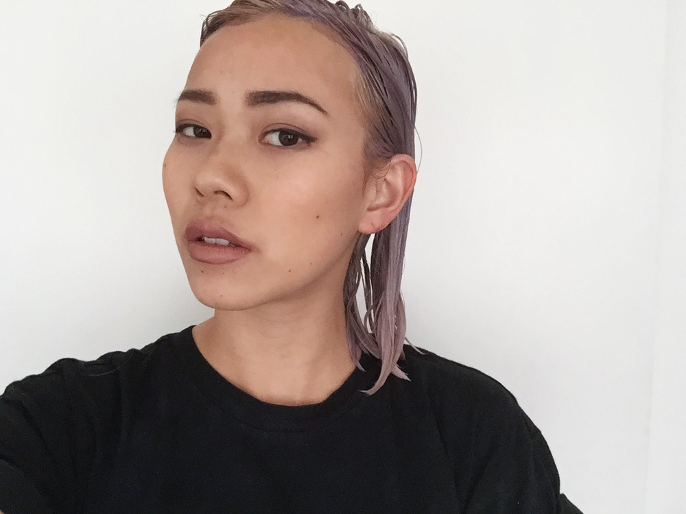 With T18 toner in (after I bleached my full head)