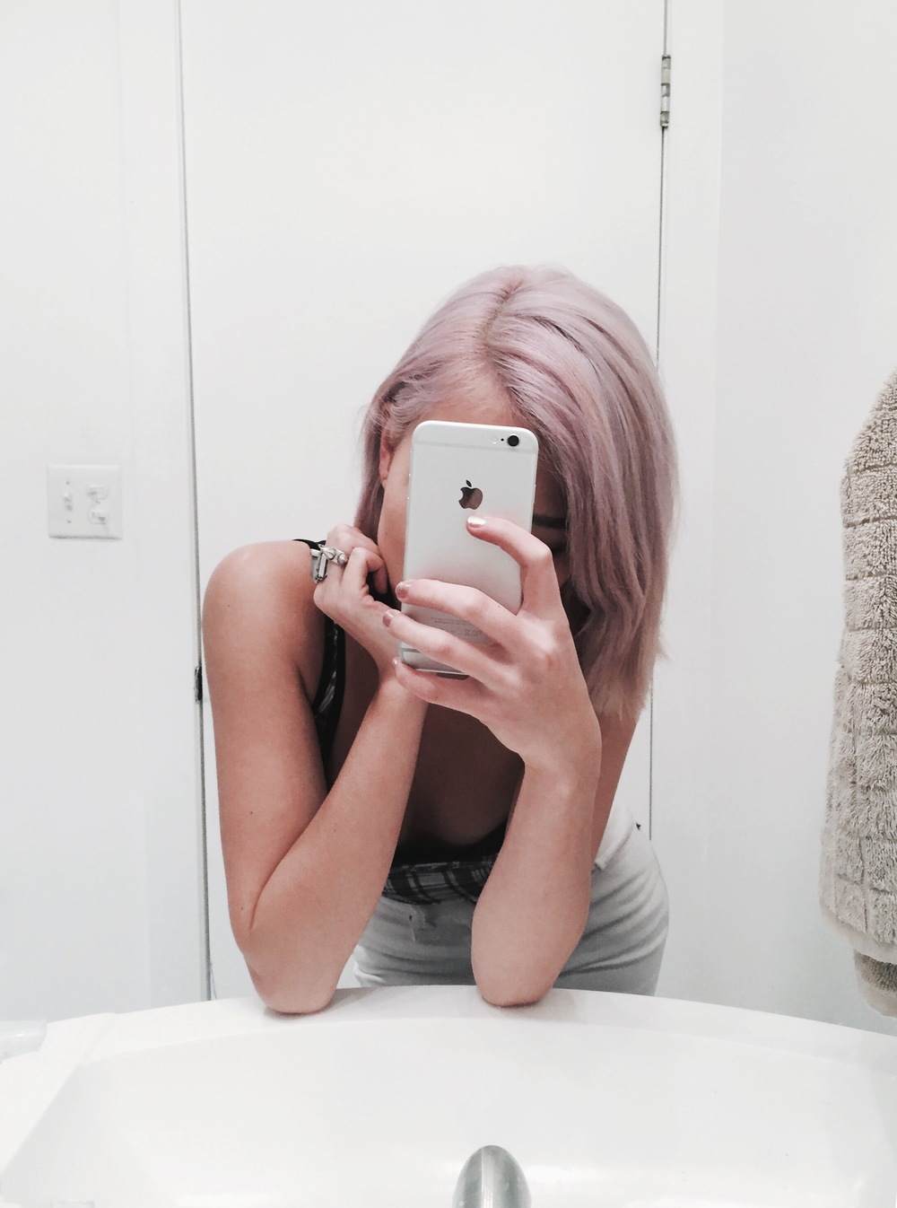 Lavender (After I had washed my hair out with Vitamin C + shampoo x2)