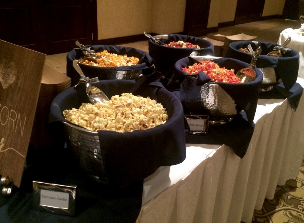 Wedding Reception Popcorn Bar