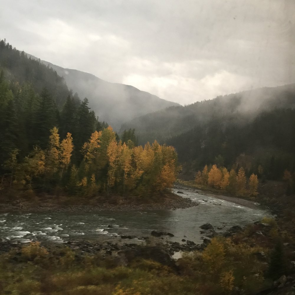 RIVER FROM THE TRAIN WINDOW