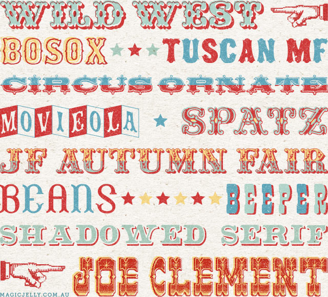 my favourite circus fonts round 2 magic jelly