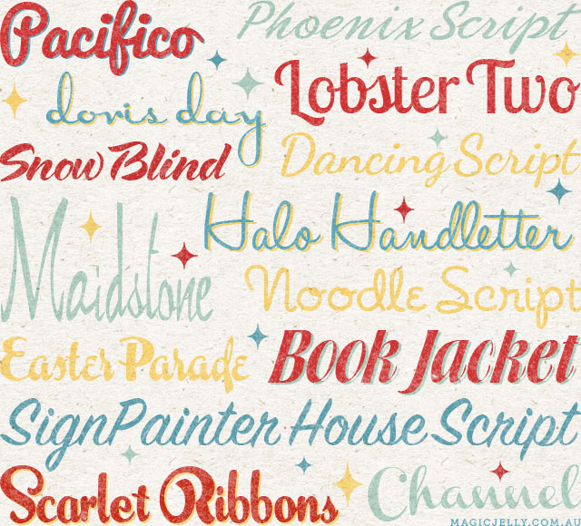 Some of My Favourite Script Fonts — Magic Jelly
