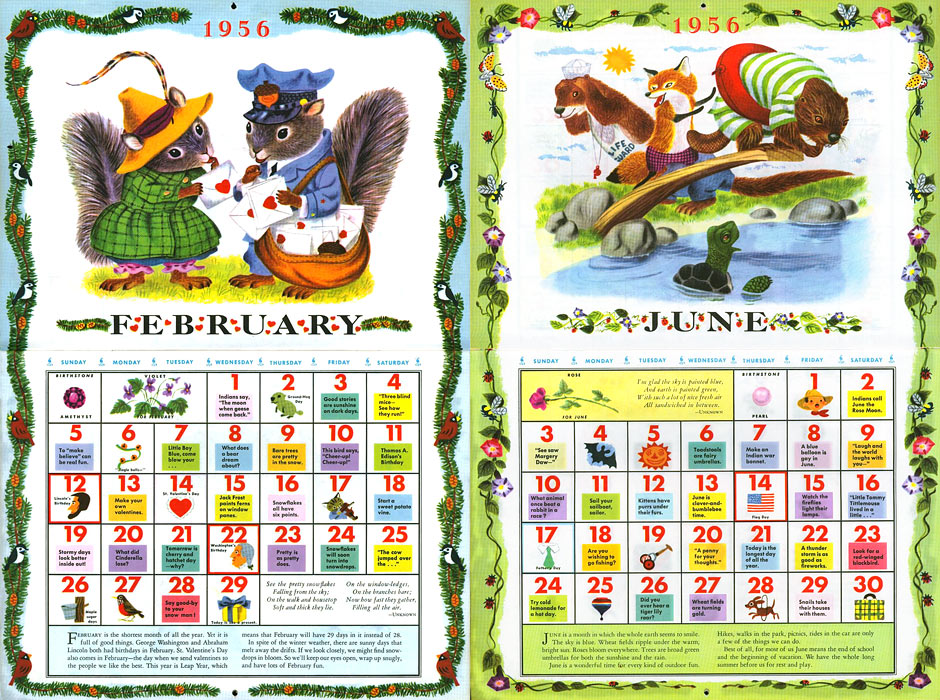 The Golden Calendar, illustrated by Richard Scarry, 1956