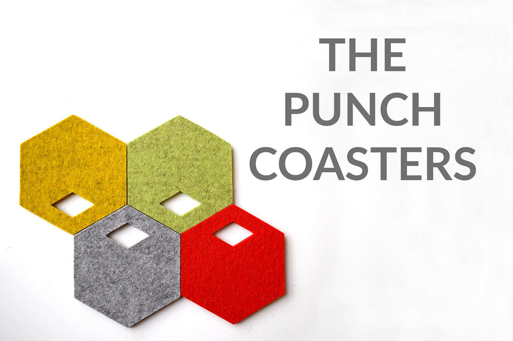 The Punch Coasters by WNKSHP