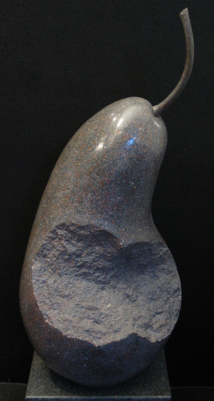 "Gray Pear  29"" x 15"" x 15""  Basalt"