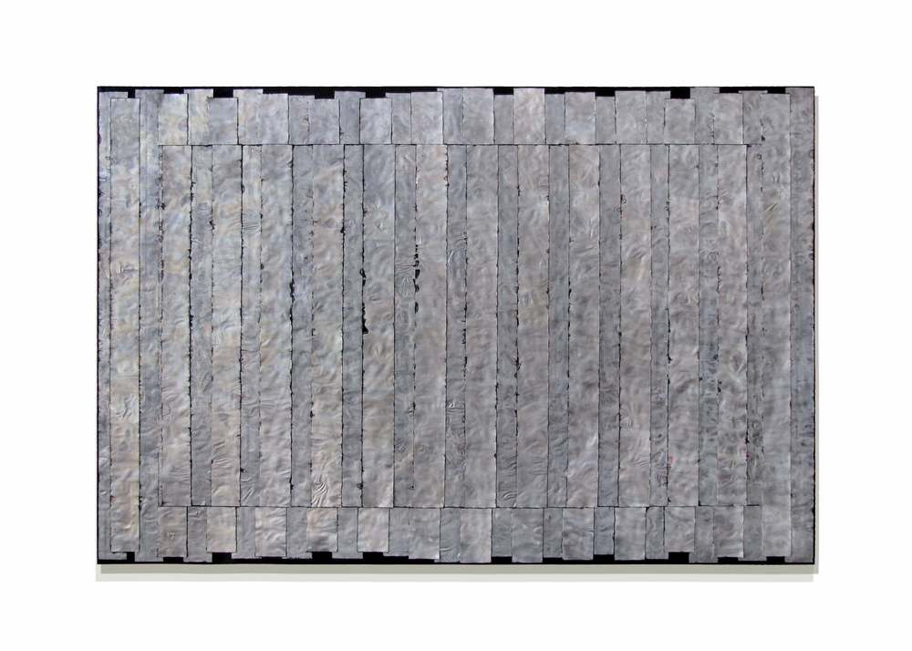 "Parallel  48"" x 72"" x 2""  Aluminum, stain, oil, wood"
