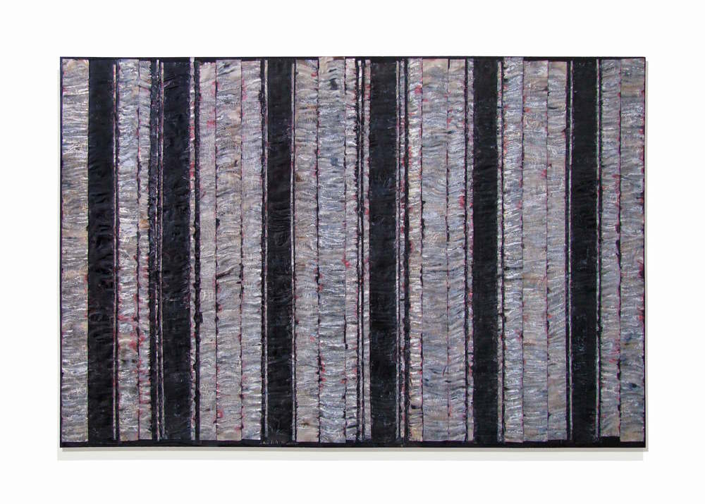 "State  48"" x 72"" x 2""  Aluminum, stain, oil, wood"