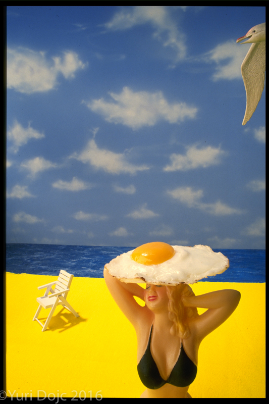"Egg Head  40""x 30""  Ink Jet Print on Aluminum  1/5 Edition"