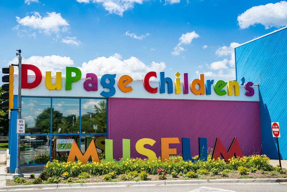 The Dupage Children's Museum is located in downtown Naperville (301 N Washington St, Naperville, IL 60540)