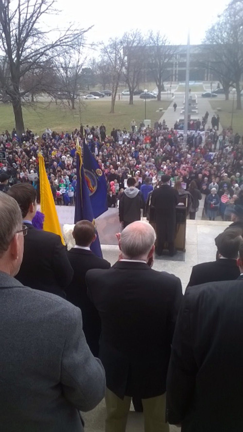2017 Rally for Life--a March for Life. Proud to be announced as a pro-life legislator on the Capitol steps.