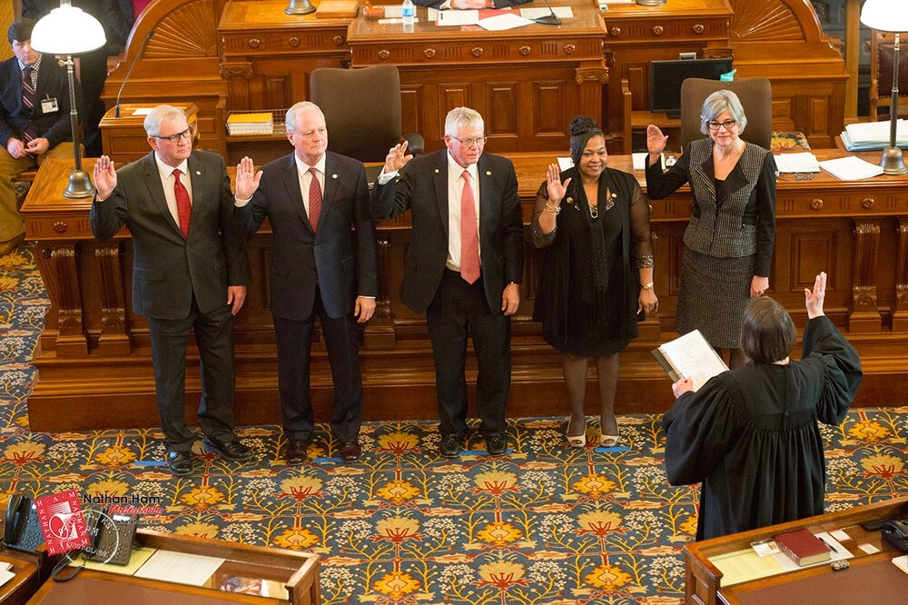 It is an honor to be sworn in once again as your senator for District 26.