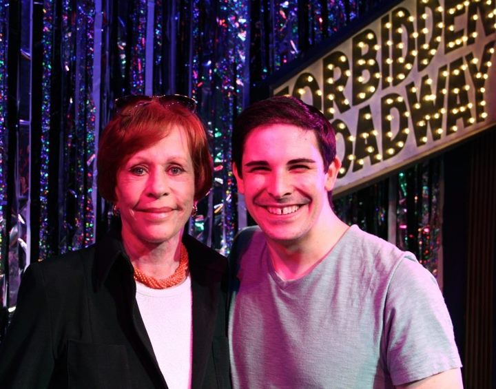 With Carol Burnett