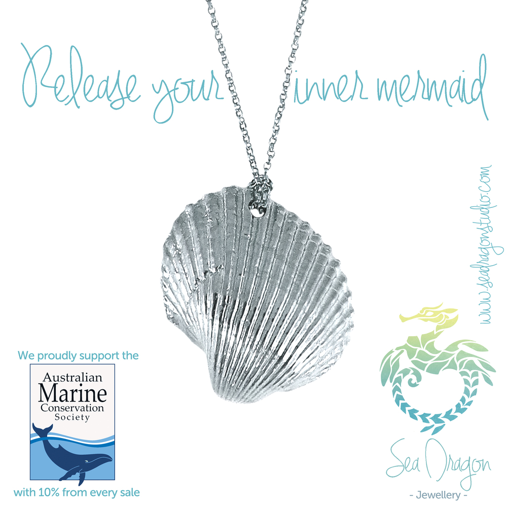 Mermaid Silver Shell Necklace.JPG