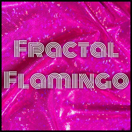Fractal Flamingo holographic hot pink by Sea Dragon Studio