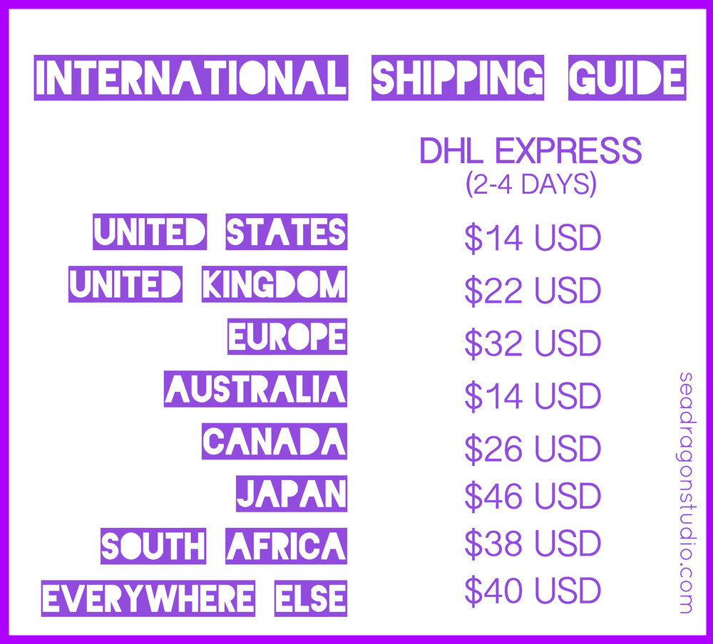 Sea Dragon Studio International Shipping