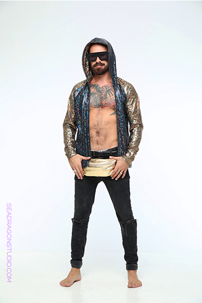 BURNING MAN LOOKS FOR MEN BY SEA DRAGON STUDIO - HOLOGRAPHIC HOODIE & FESTIVAL BELT10.jpg
