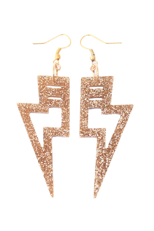 teardrop rose racks gold the boutique leather glitter off earrings