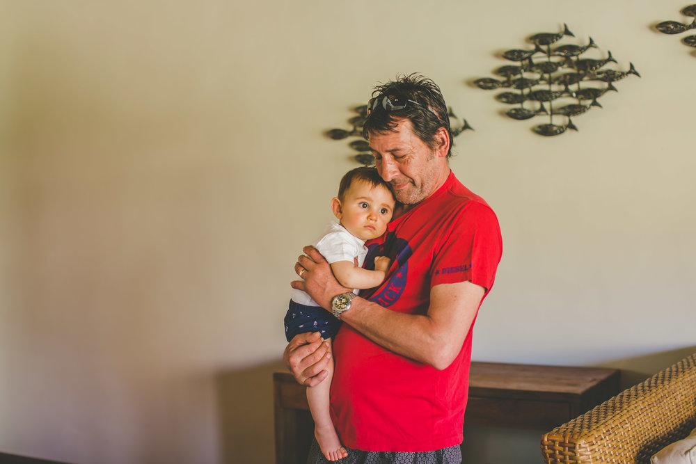 Father of Bride with baby Rarotonga