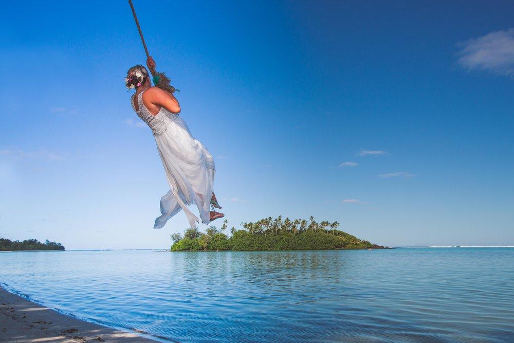 Adventure wedding Rarotonga