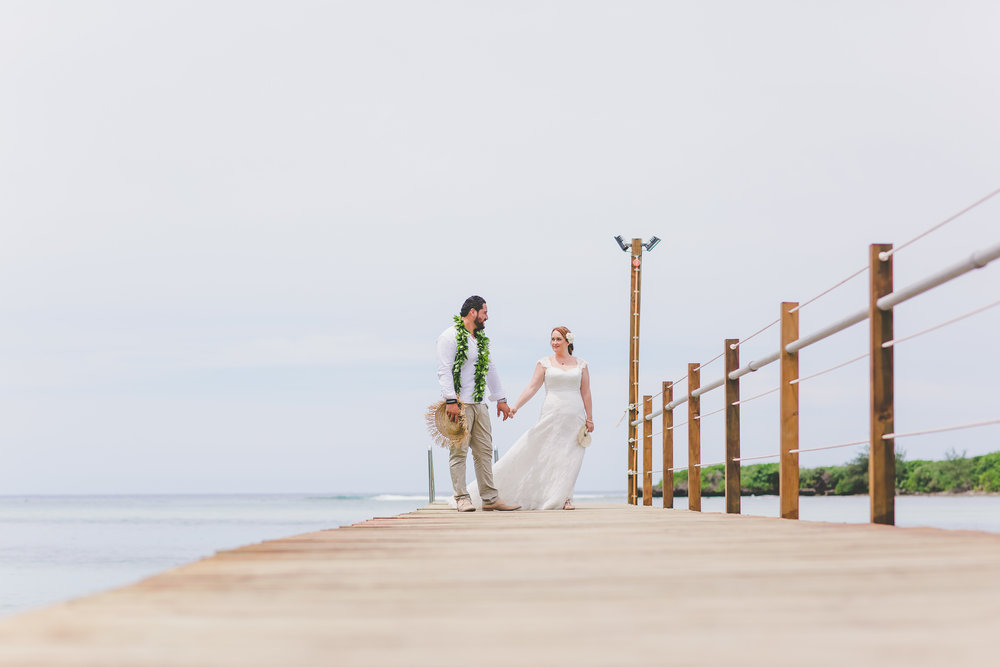 Rarotonga wedding Avana pier