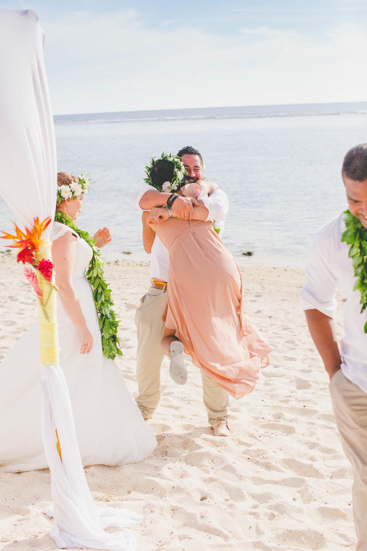 Wedding fun Rarotonga