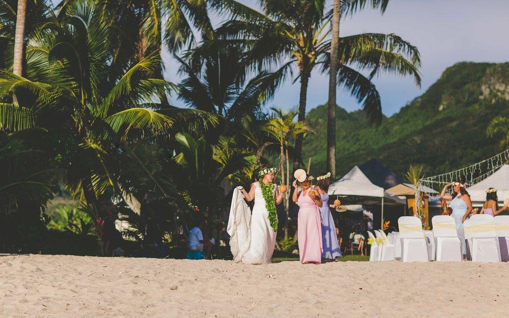holiday home rarotonga wedding