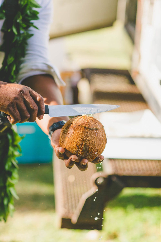 Fresh coconut Rarotonga