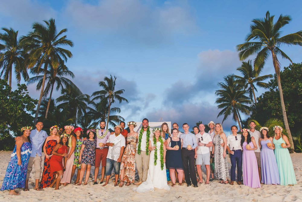 portrait familiy wedding rarotonga