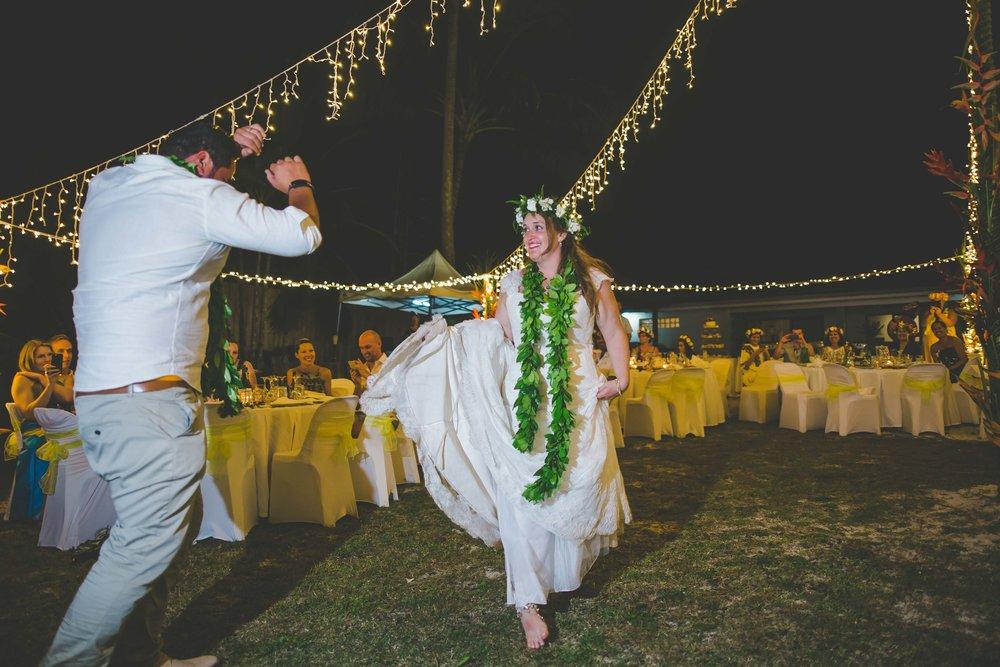 first dance rarotonga wedding