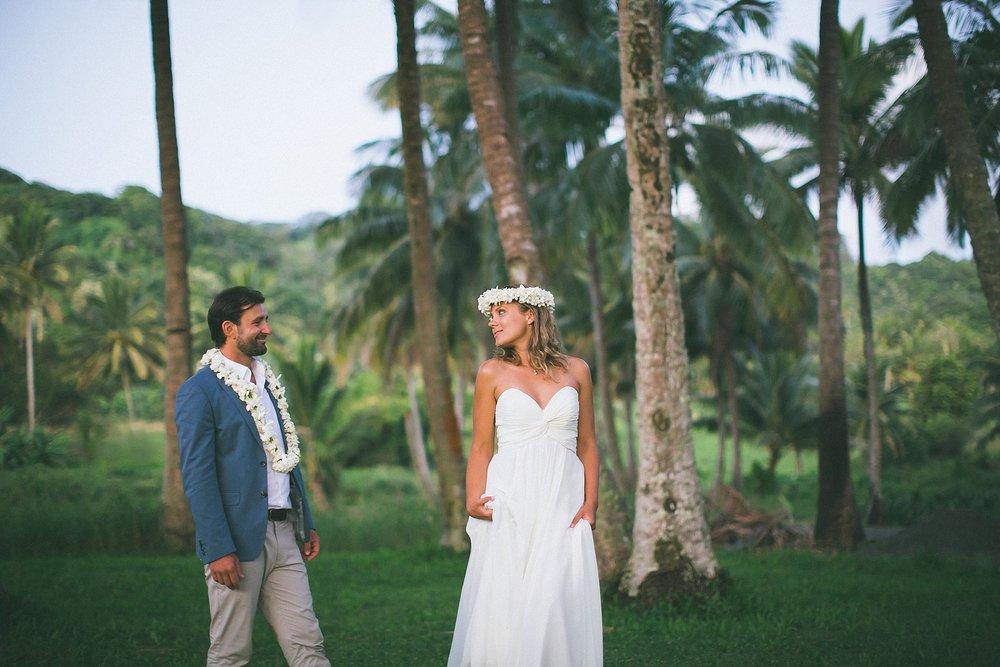 rainforest rarotonga wedding