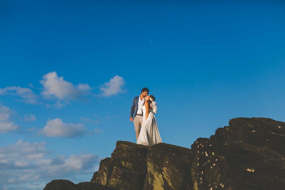 black rock rarotonga bride and groom