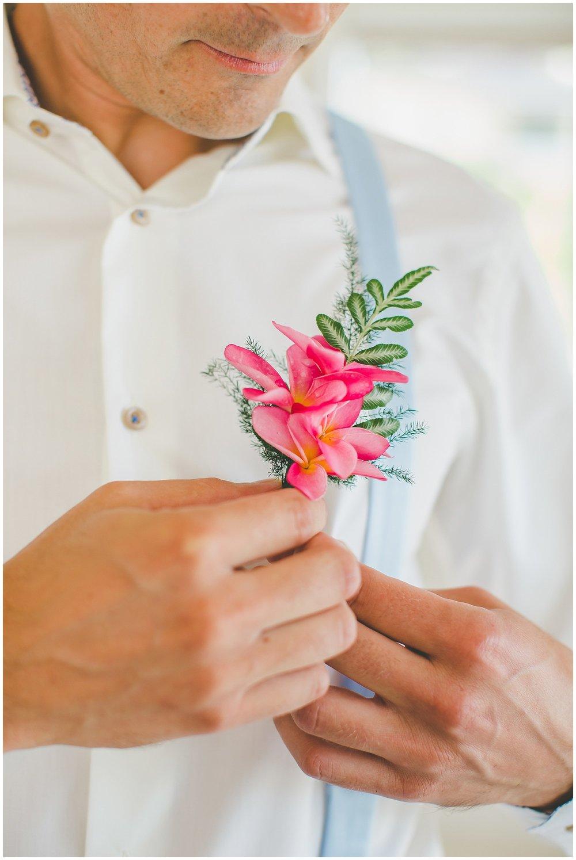 groom wedding flower rarotonga