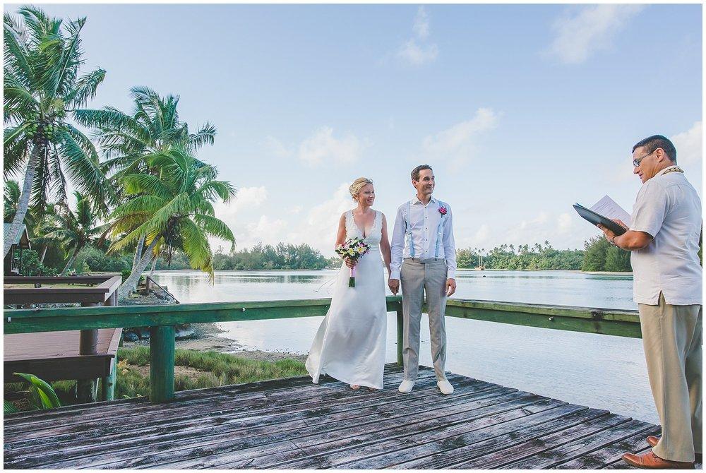 DIY wedding cook islands