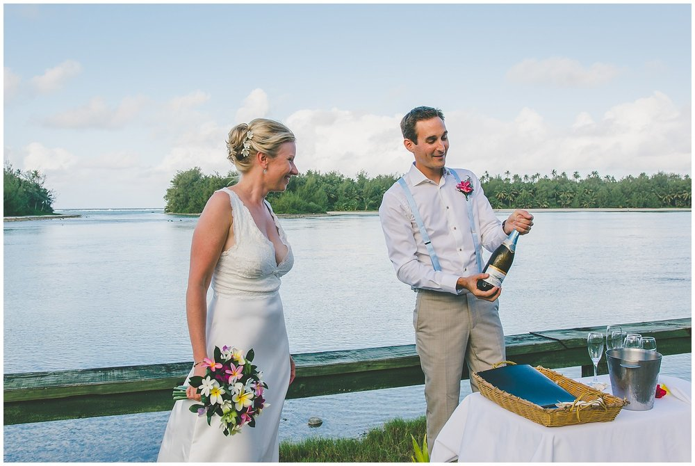 wedding champagne cook islands