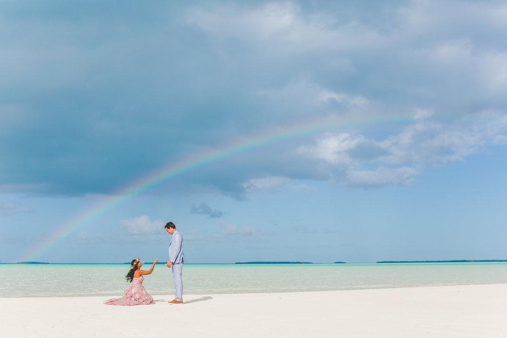 lagoon wedding aitutaki