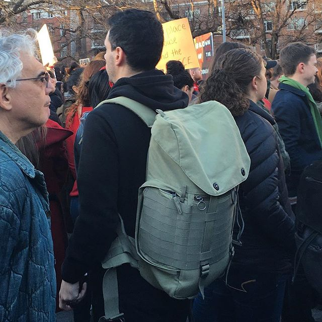 Caught in the wild at the #internationalwomensday 2017 march in NYC #carrythrough