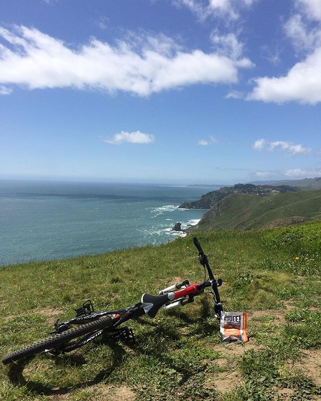 The best kind of reward for reaching the top. And the view isn't bad either... #wheredoyoukooee #mtb #marin