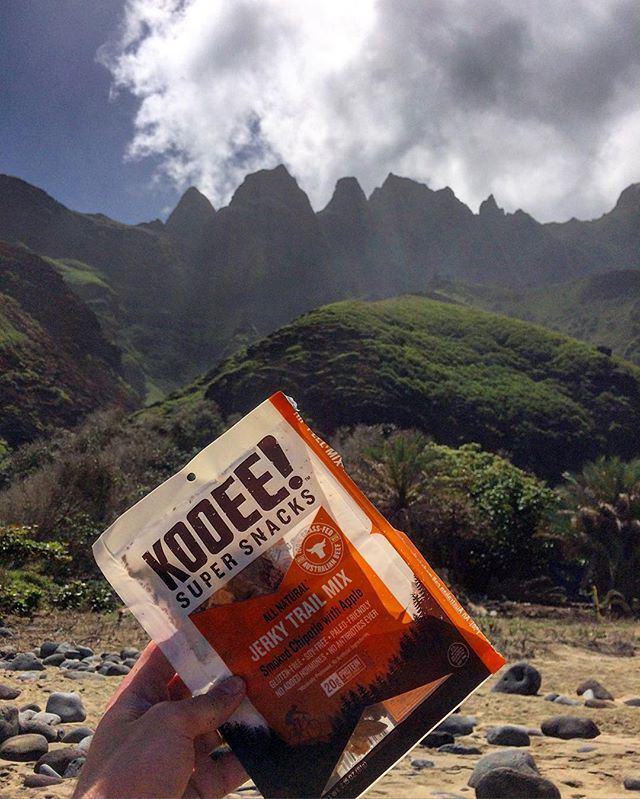 Fuelling up before the long trek back to civilization. #wheredoyoukooee #kalalau #smokedchipotle