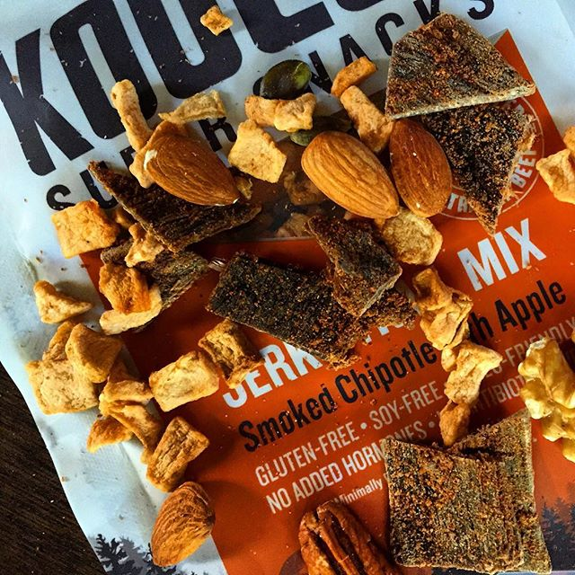 Late night snacks done right. #wheredoyoukooee  #getyourmacros #jerkytrailmix